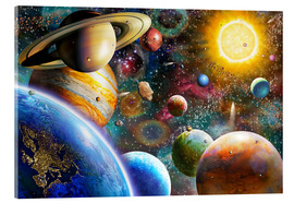 Acrylic glass  Planets in Space and Europe - Adrian Chesterman