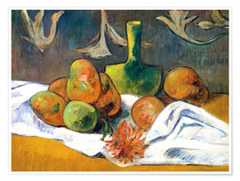 Premium poster Still Life with Teapot and Fruit