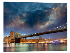 Acrylic print  Brooklyn Bridge in stunning colors