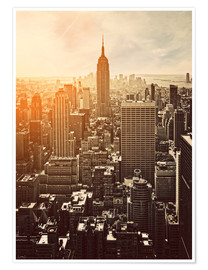 Premium poster  Sunset in Manhattan, New York