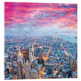 Acrylic print  Amazing New York skyline at night