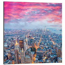Aluminium print  Amazing New York skyline at night