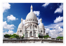Premium poster Sacre Coeur Cathedral on Montmartre