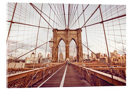 Acrylic print  New York Brooklyn Bridge and city skyline