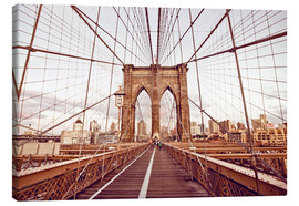 Canvas print  New York Brooklyn Bridge and city skyline