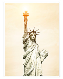 Premium poster Liberty Statue in New York, USA
