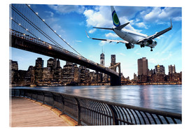 Acrylic print  Aircraft flying over New York City