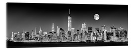 Acrylic print  Manhattan Skyline at dusk