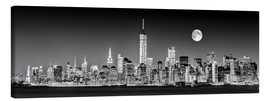 Canvas print  Manhattan Skyline at Dusk