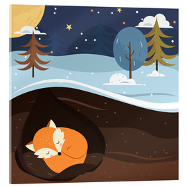 Acrylic print  Resting fox - Kidz Collection
