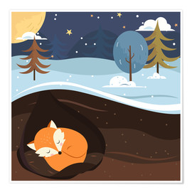 Poster  Resting Fox - Kidz Collection