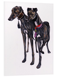 Foam board print  Brindle greyhounds - Jim Griffiths