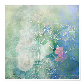 Premium poster  Abstract flowers - Aimee Stewart