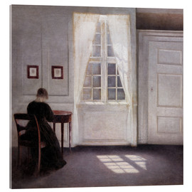 Acrylic print  Interior with sunlight on the floor - Vilhelm Hammershøi