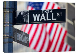 Canvas print  Wall Street Signs in Manhattan, New York City
