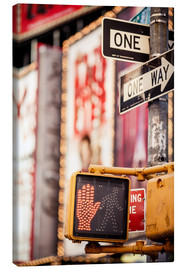 Canvas print  Don't walk - New York traffic sign