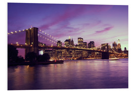 Forex  Brooklyn Bridge and Manhattan at purple sunset