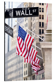 Aluminium print  Wall street sign, New York Stock Exchange