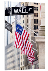 Foam board print  Wall street sign, New York Stock Exchange