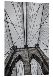 Acrylic glass  Brooklyn Bridge in New York
