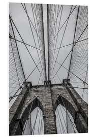 Foam board print  Brooklyn Bridge in New York