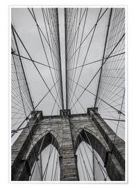 Premium poster  Brooklyn Bridge in New York