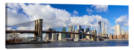 Canvas print  Panoramic Brooklyn Bridge and Manhattan skyline