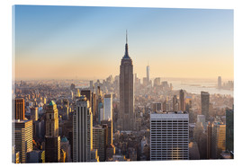 Acrylic print  Downtown Manhattan