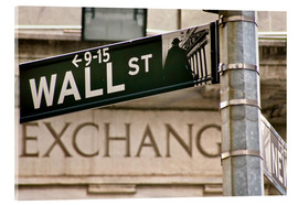 Acrylic glass  Wall Street - street sign