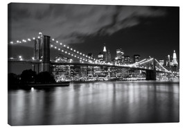 Canvas print  Brooklyn Bridge - Night Scene