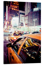 Acrylic print  Yellow Cabs and city lights