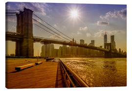 Canvas print  Brooklyn Bridge, New York, USA