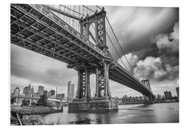 Foam board print  The Manhattan Bridge