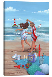 Canvas print  Beach Dance (Variant 1) - Peter Adderley