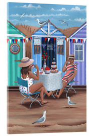 Acrylic print  Beach Huts Afternoon Tease (Variant 1) - Peter Adderley