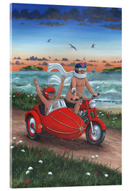 Acrylic print  Motorbike and sidecar - Peter Adderley