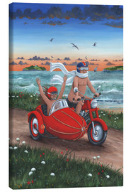 Canvas print  Motorbike and sidecar - Peter Adderley