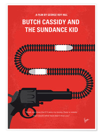Premium poster No585 My Butch Cassidy and the Sundance Kid minimal movie poster