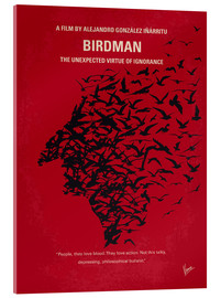Acrylic glass  No604 My Birdman minimal movie poster - chungkong