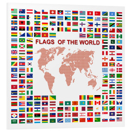Foam board print  Flags of the world