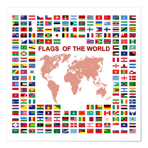 Premium poster Flags of the world