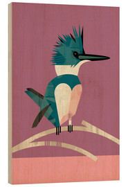 Wood print  Kingfisher - Dieter Braun