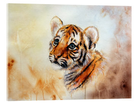 Acrylic glass  Baby Tiger