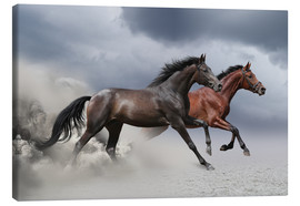 Canvas print  Horses in the storm