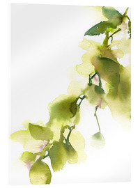Acrylic print  Reality in Green - CanotStop Painting
