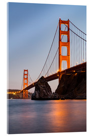 Acrylic print  ?San Francisco Golden Gate Bridge at sunset