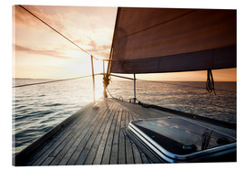 Acrylic print  Sailing away