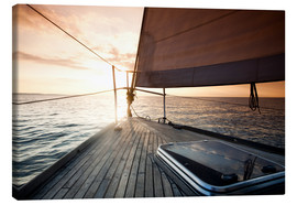 Canvas print  Sailing away