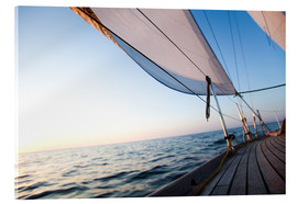 Acrylic print  Sailing to the sunrise