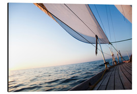 Aluminium print  Sailing to the sunrise